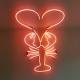 Afbeelding in neon - kreeft