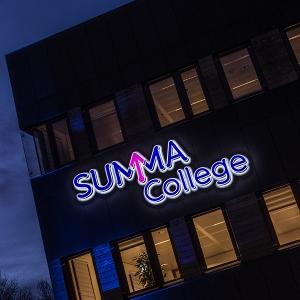 Belettering en signing Summa College