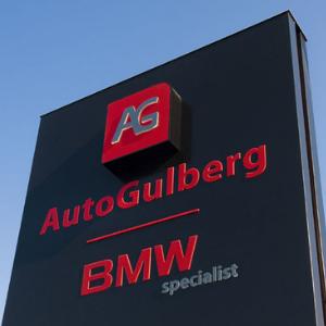 Belettering en signing - Auto Gulberg - projectpagina