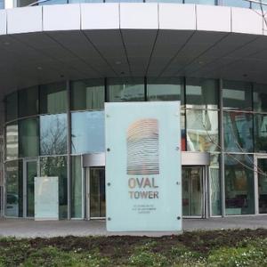 Belettering en signing - Oval Tower Amsterdam - projectpagina