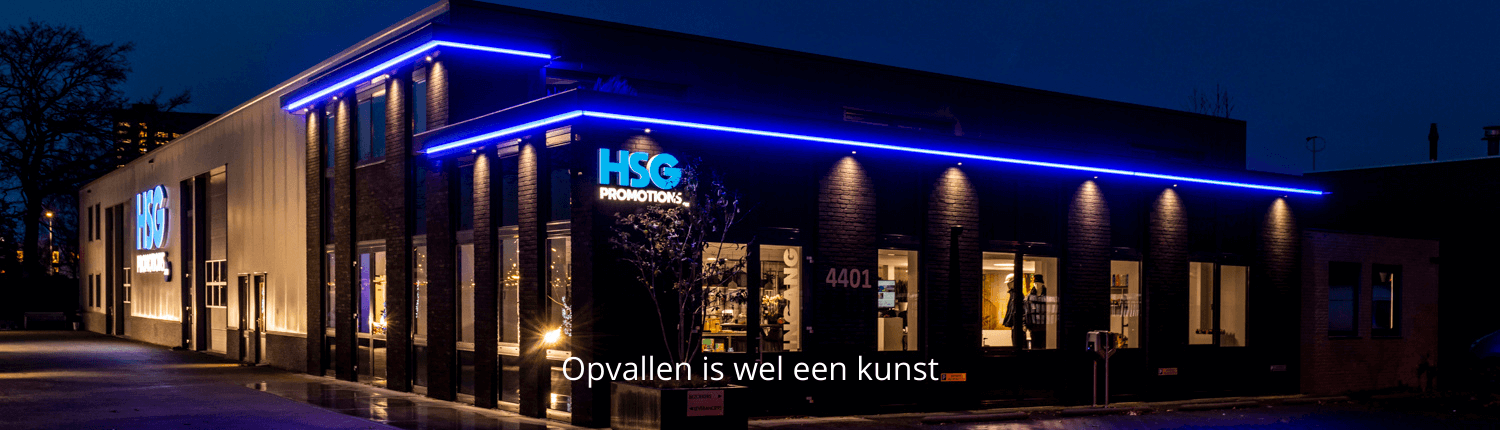 Lichtreclame in led HSG Promotions - Brouwers Reklame