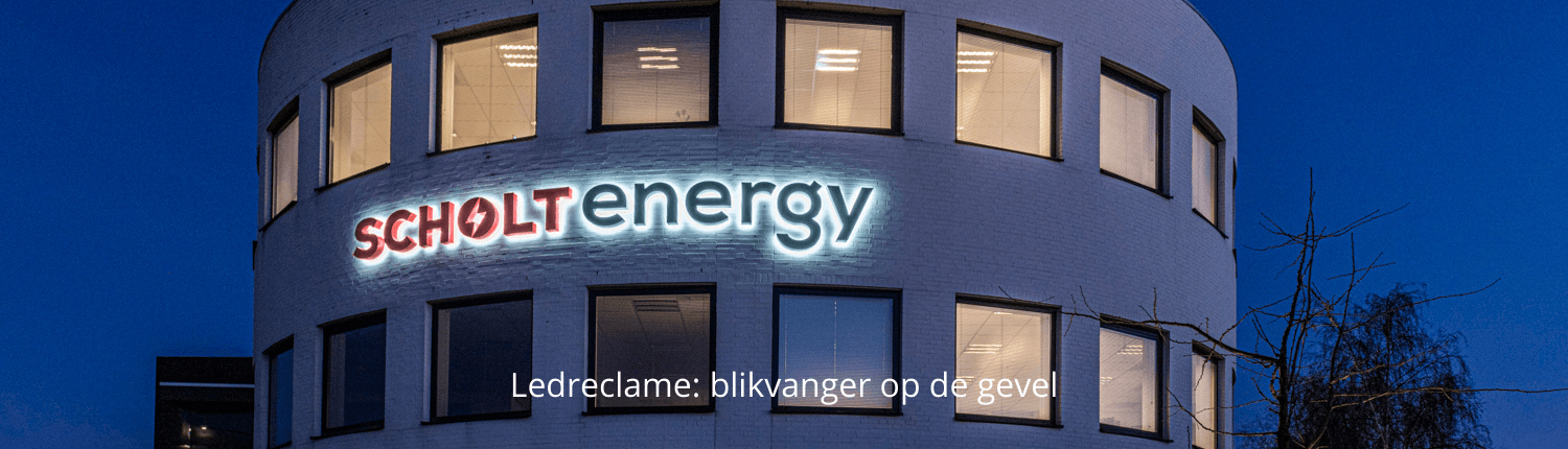 Lichtreclame in led Scholt Energy - homepage Brouwers Reklame
