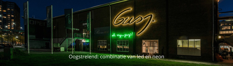 Neon lichtreclame Gusj Market - homepage Brouwers Reklame
