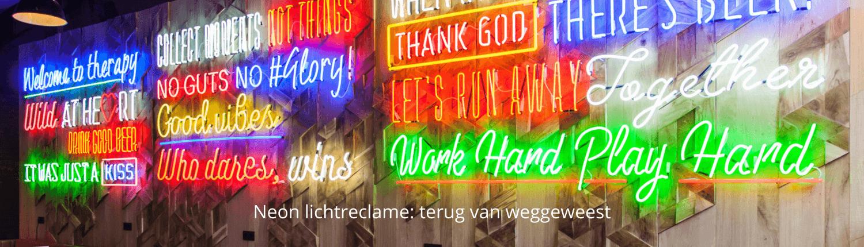 Neon lichtreclame het Taphuys - homepage Brouwers Reklame