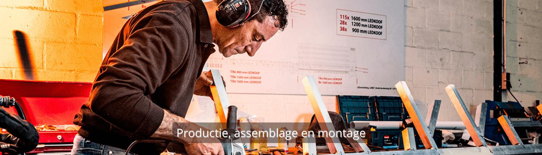 Productie, assemblage en montage - werkwijze Brouwers Reklame
