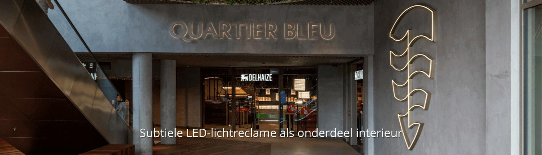 Lichtreclame in led - winkelcentrum Hasselt