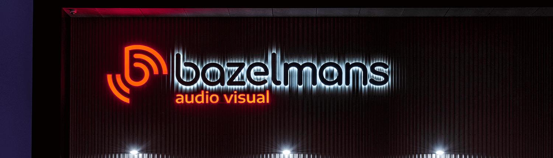 Led lichtreclame voor Bazelmans audio visual