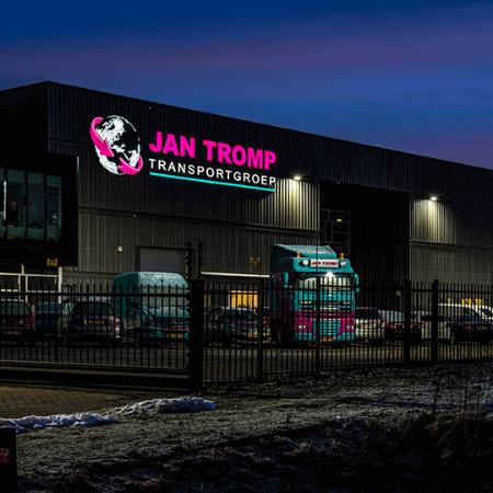 Led lichtreclame Jan Tromp Transportgroep - portfolio 1