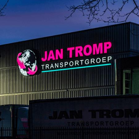 Led lichtreclame Jan Tromp Transportgroep - portfolio 2