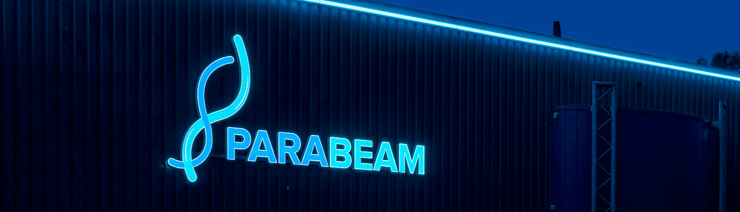 Led lichtreclame voor Parabeam - footer