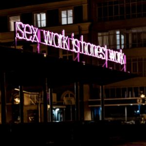 Neon lichtreclame voor kunstwerk - portfolio